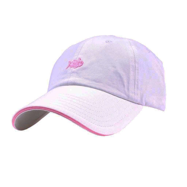 Skipjack Hat in White with Smoothie Pink by Southern Tide