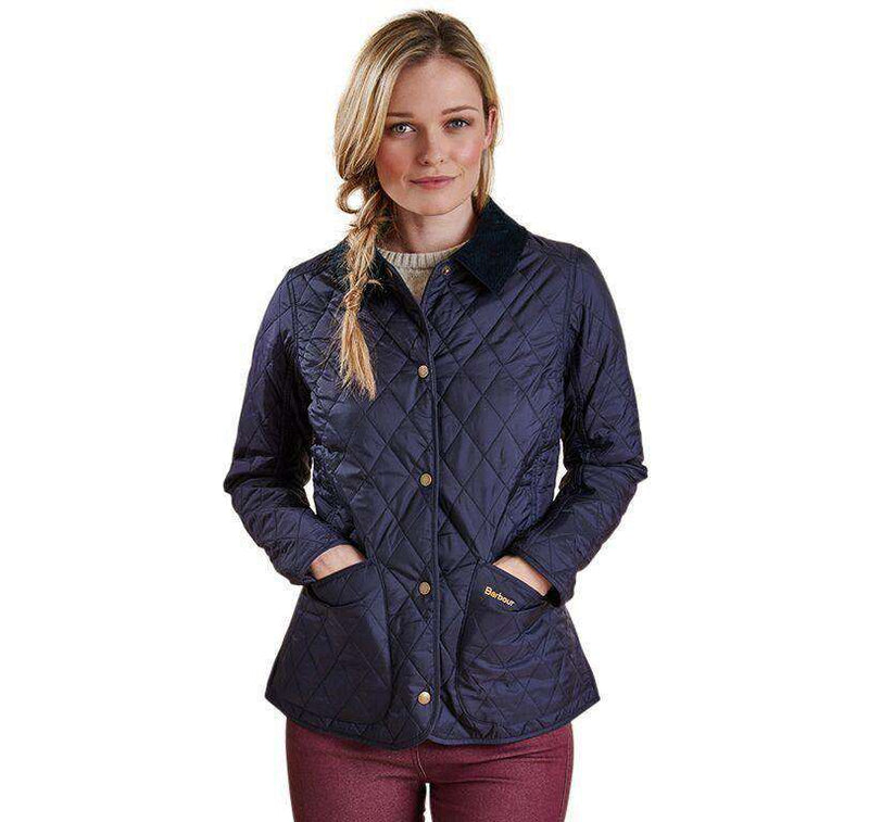 Women's Jackets - Annandale Quilted Jacket In Navy By Barbour