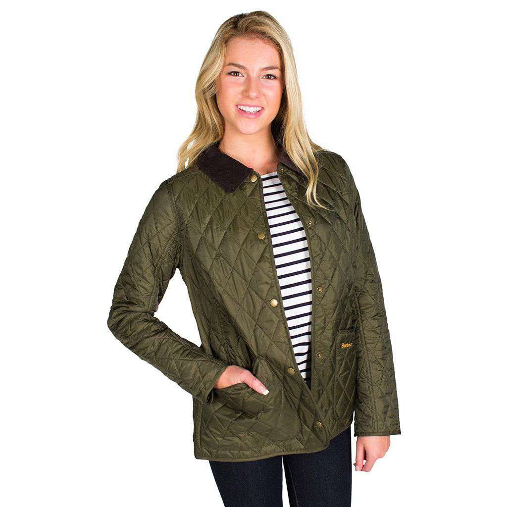 Barbour Annandale Quilted Jacket in Olive Green – Country ...