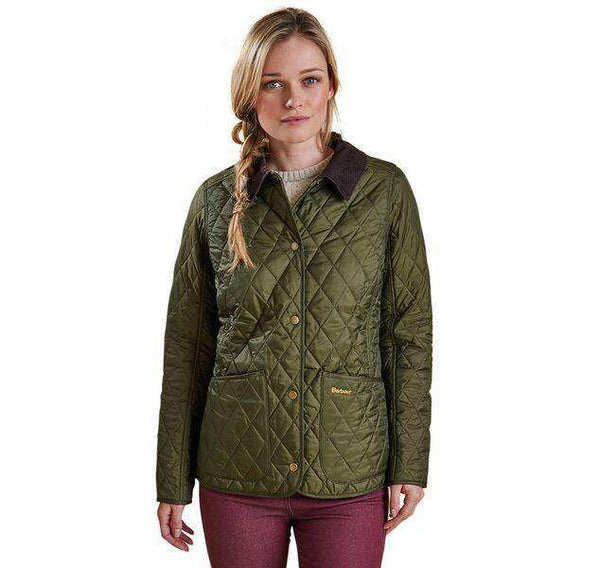 Barbour Annandale Quilted Jacket In Olive Green Country