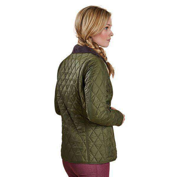 Women's Jackets - Annandale Quilted Jacket In Olive Green By Barbour