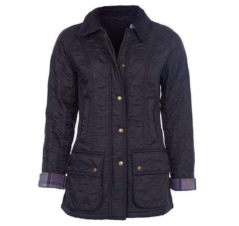Women's Jackets - Beadnell Polarquilt Jacket In Black By Barbour
