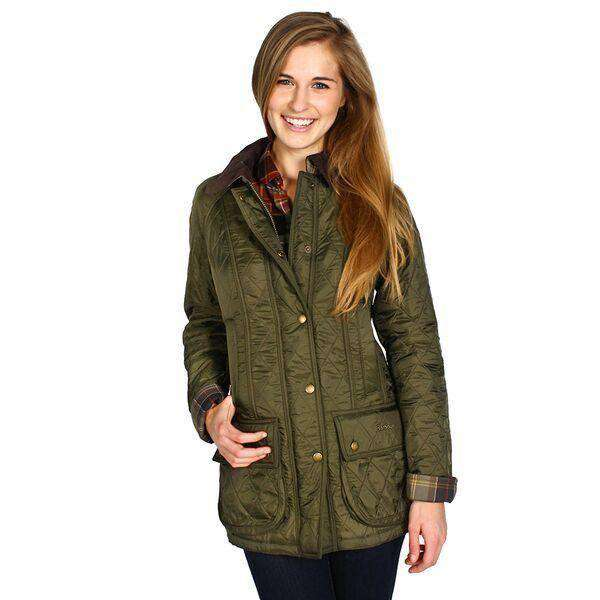 Women's Jackets - Beadnell Polarquilt Jacket In Olive By Barbour