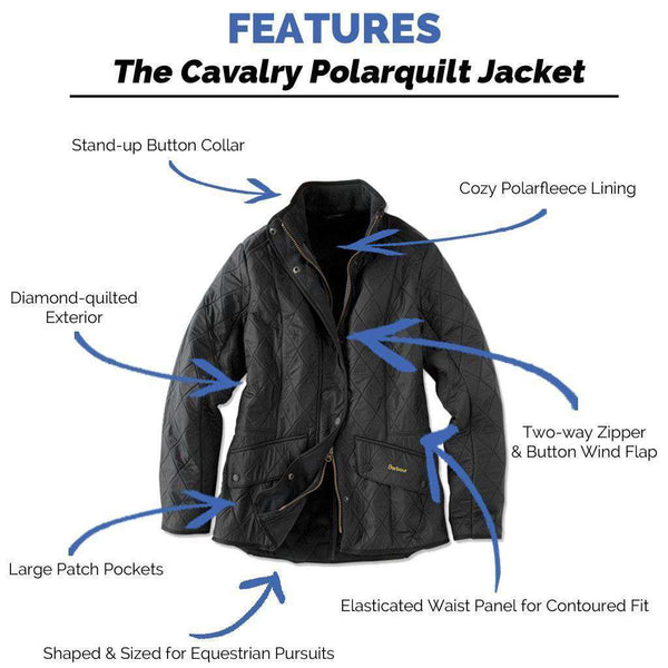 Cavalry Polarquilt Jacket in Black by Barbour - FINAL SALE