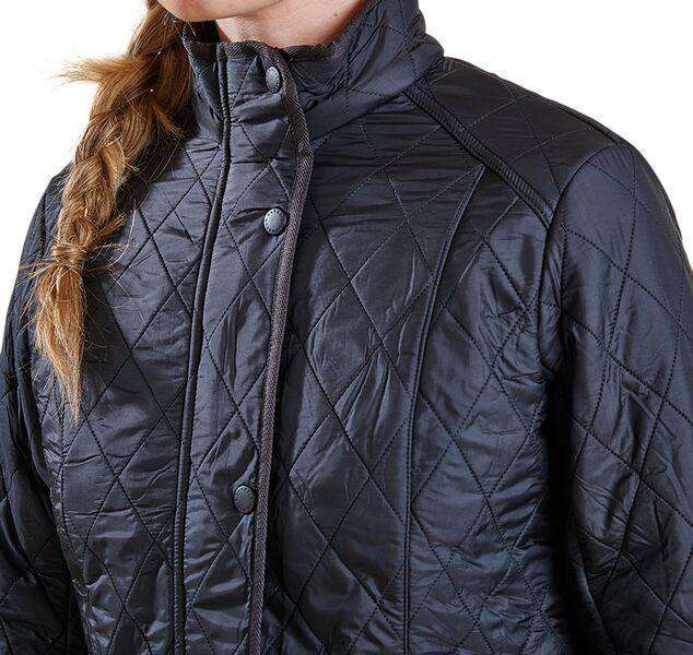 Women's Jackets - Cavalry Polarquilt Jacket In Black By Barbour