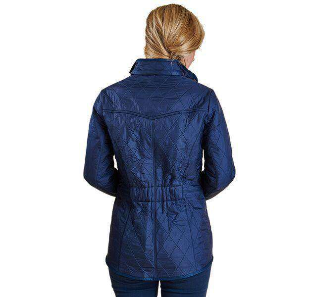 Cavalry Polarquilt Jacket in Dress Blue by Barbour - FINAL SALE