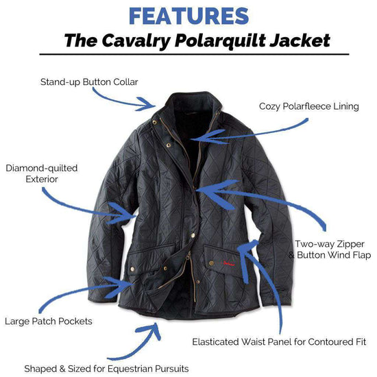 Women's Jackets - Cavalry Polarquilt Jacket In Navy By Barbour