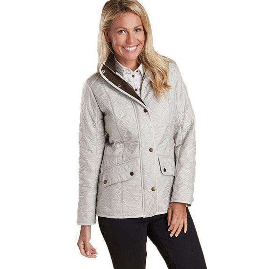 Women's Jackets - Cavalry Polarquilt Jacket In Pearl/Rustic By Barbour