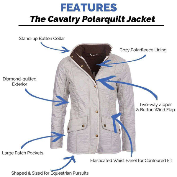Barbour Cavalry Polarquilt Jacket In Pearl Rustic