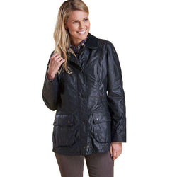 Women's Jackets - Classic Beadnell Wax Jacket In Navy By Barbour