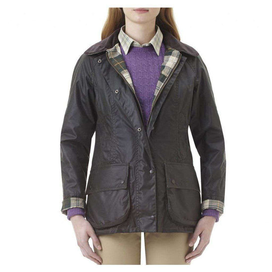 Women's Jackets - Classic Beadnell Wax Jacket In Sage Green By Barbour