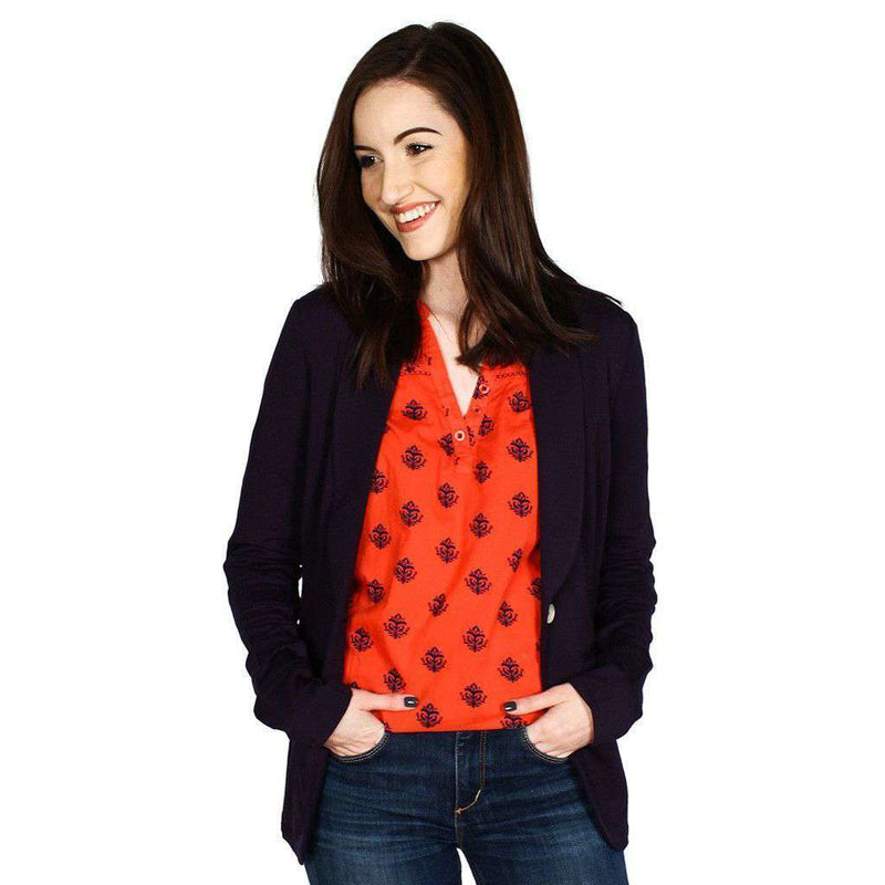 Cuffed Blazer in Navy by Hatley - FINAL SALE