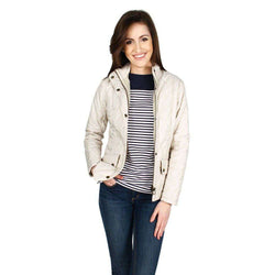 Women's Jackets - Flyweight Cavalry Jacket In Pearl/Stone By Barbour