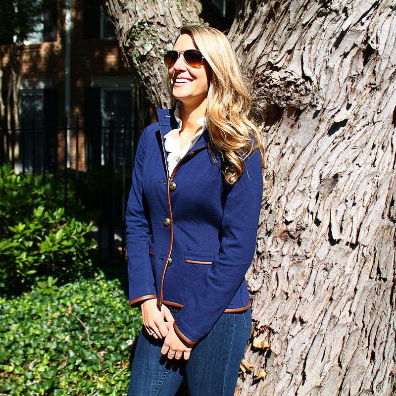 Women's Jackets - Hunt Jacket In Navy By Sail To Sable - FINAL SALE