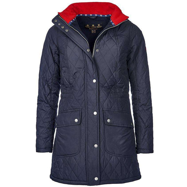 Barbour Kirkby Quilted Jacket In Navy Country Club Prep