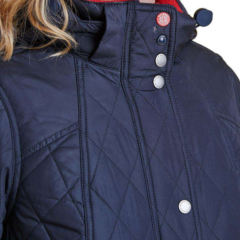 Kirkby Quilted Jacket in Navy by Barbour