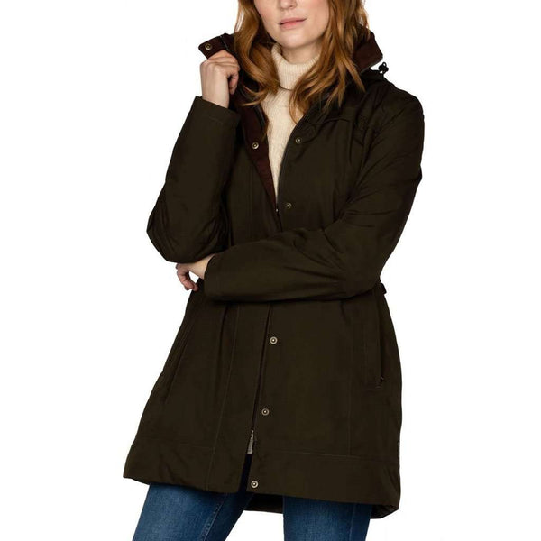 Women's Jackets - Leopardstown Women's Gore-Tex Coat In Olive By Dubarry Of Ireland