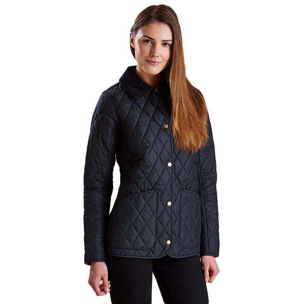 Barbour Montrose Quilted Jacket In Black Country Club Prep
