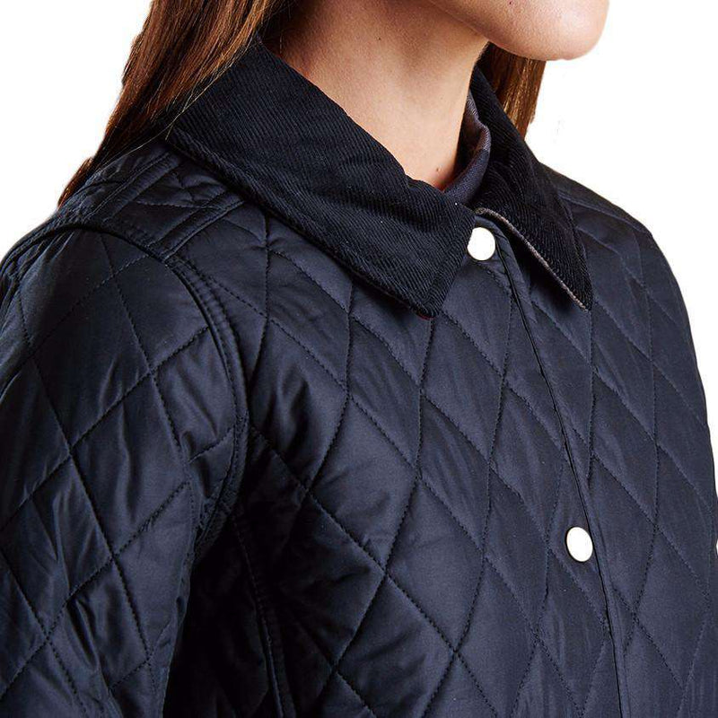 Montrose Quilted Jacket in Black by Barbour
