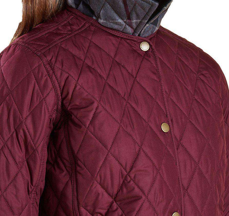 Women's Jackets - Montrose Quilted Jacket In Bordeaux By Barbour