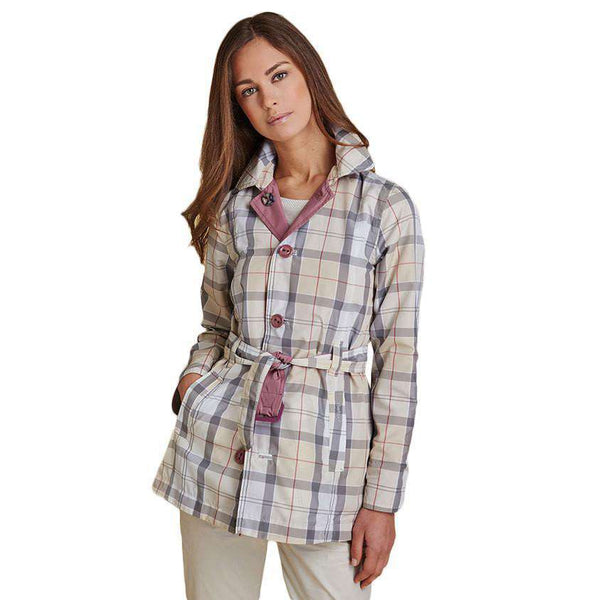 Reversible Oak Trench Coat in Ice Rose and Summer Tartan by Barbour - FINAL SALE
