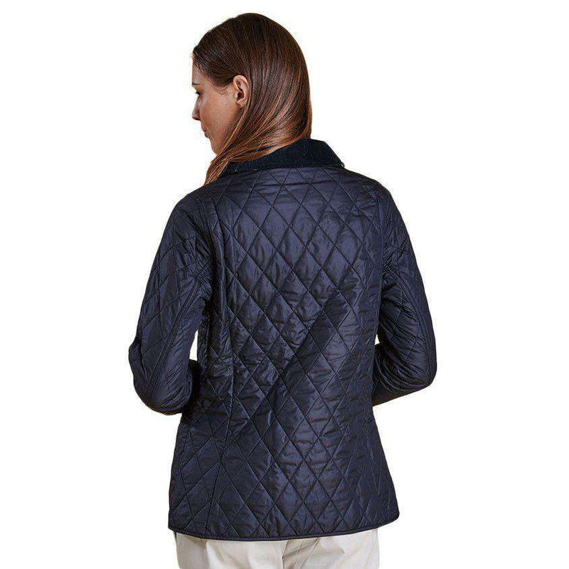 Barbour Spring Annandale Quilted Jacket In Navy Country Club Prep