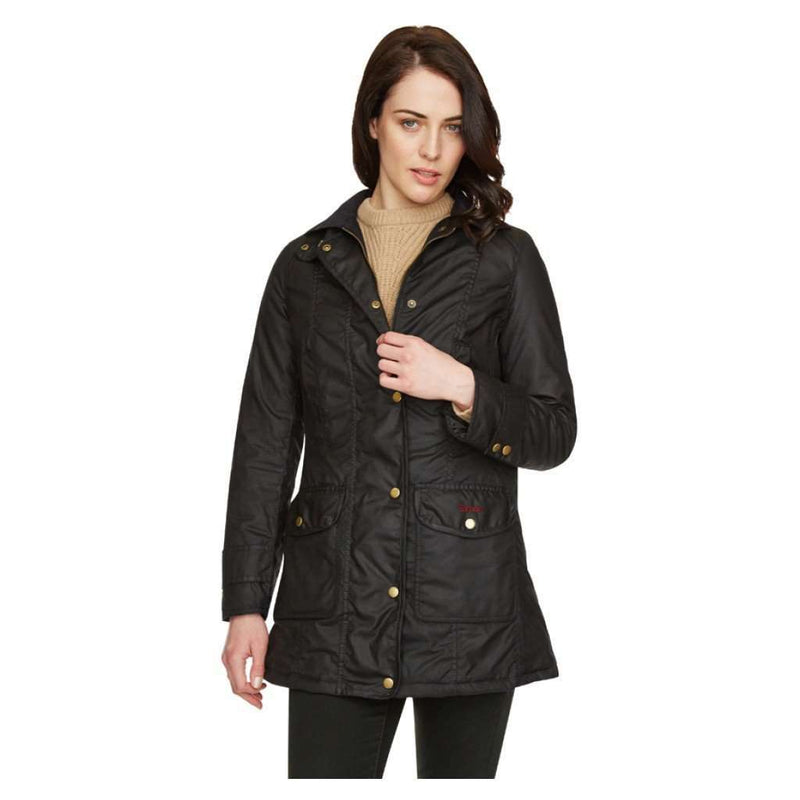 Women's Jackets - The Squire Waxed Jacket In Black By Barbour