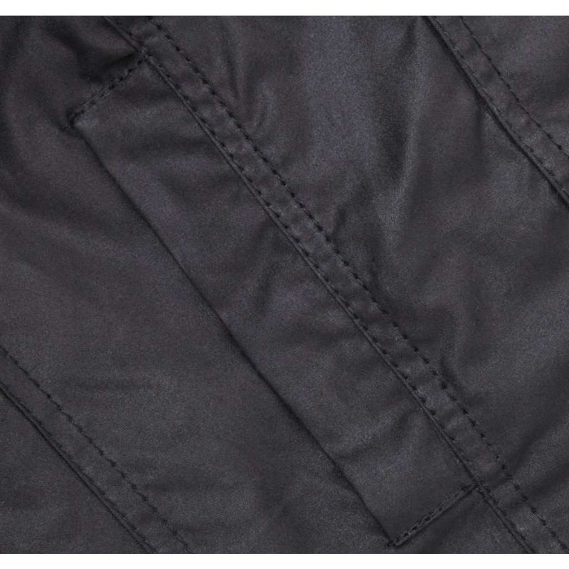 The Squire Waxed Jacket in Black by Barbour