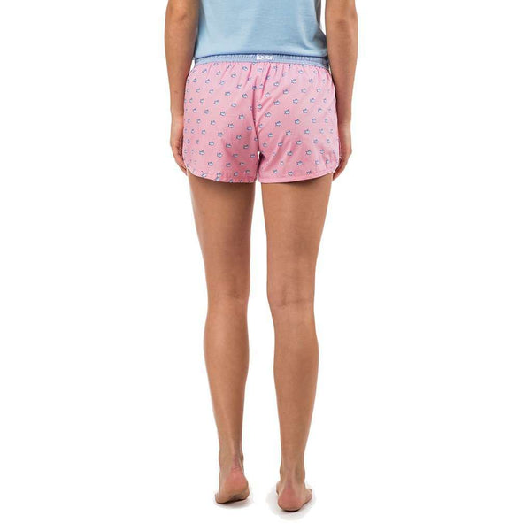 Women's Loungewear/Boxers - Women's Skipjack Lounge Short In Lemonade Pink By Southern Tide