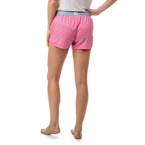 Women's Loungewear/Boxers - Women's Skipjack Lounge Short In Smoothie Pink By Southern Tide - FINAL SALE