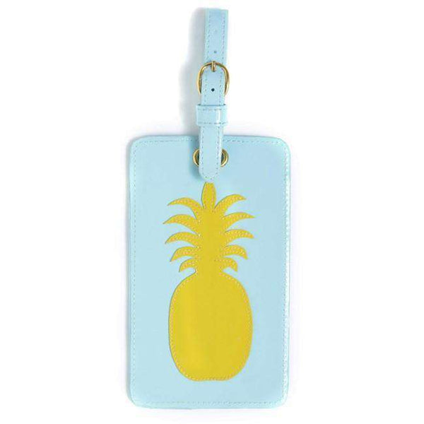 Luggage Tag in Light Blue with Yellow Pineapple by Lolo