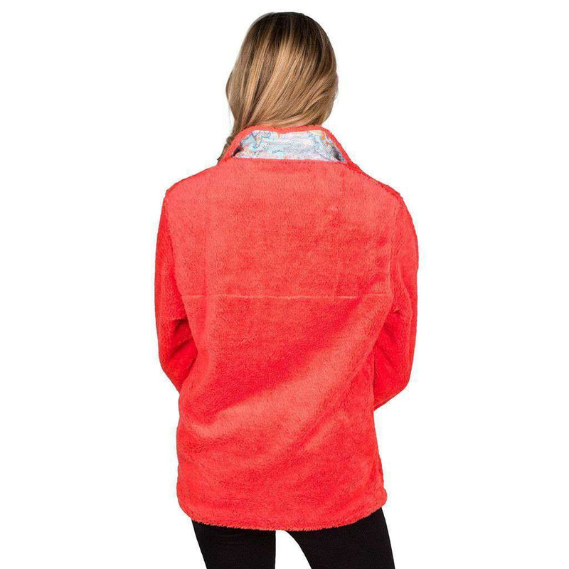 1/4 Zip Fleece in Coral by the Fraternity Collection