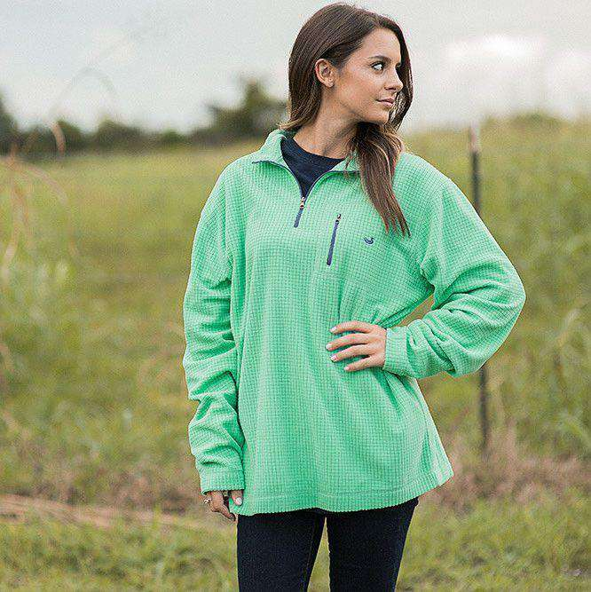Women's Outerwear - FieldTec Dune Pullover In Bimini Green By Southern Marsh