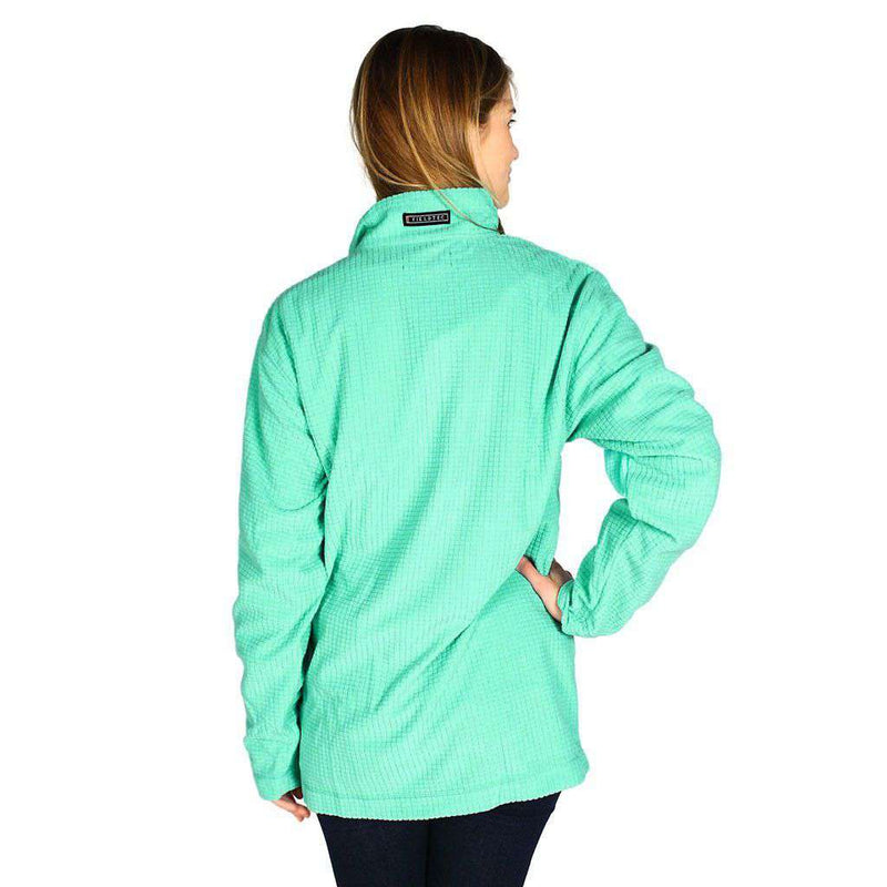 Women's Outerwear - FieldTec Dune Pullover In Bimini Green With Seersucker Pocket By Southern Marsh