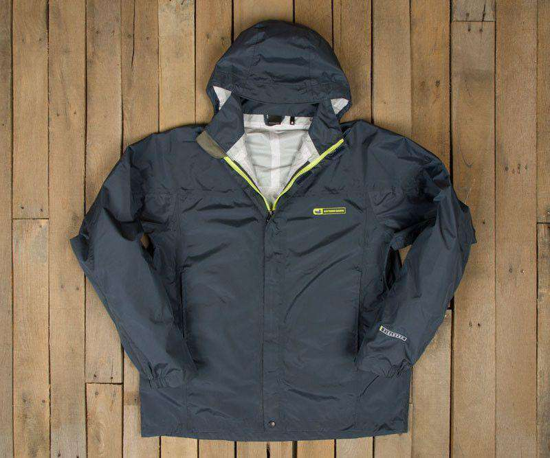 Women's Outerwear - FieldTec Rain Jacket In Navy By Southern Marsh - FINAL SALE