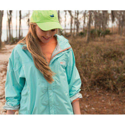 Women's Outerwear - FieldTec Rain Jacket In Ocean Green By Southern Marsh - FINAL SALE