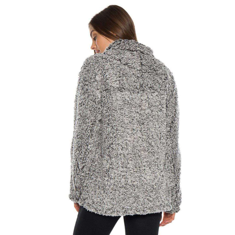 Frosty Tipped Women's Stadium Pullover in Charcoal by True Grit (Dylan)
