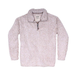 Women's Outerwear - Frosty Tipped Women's Stadium Pullover In Oatmeal By True Grit (Dylan)