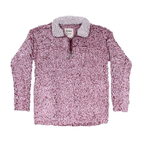 Women's Outerwear - Frosty Tipped Women's Stadium Pullover In Vintage Wine By True Grit (Dylan)