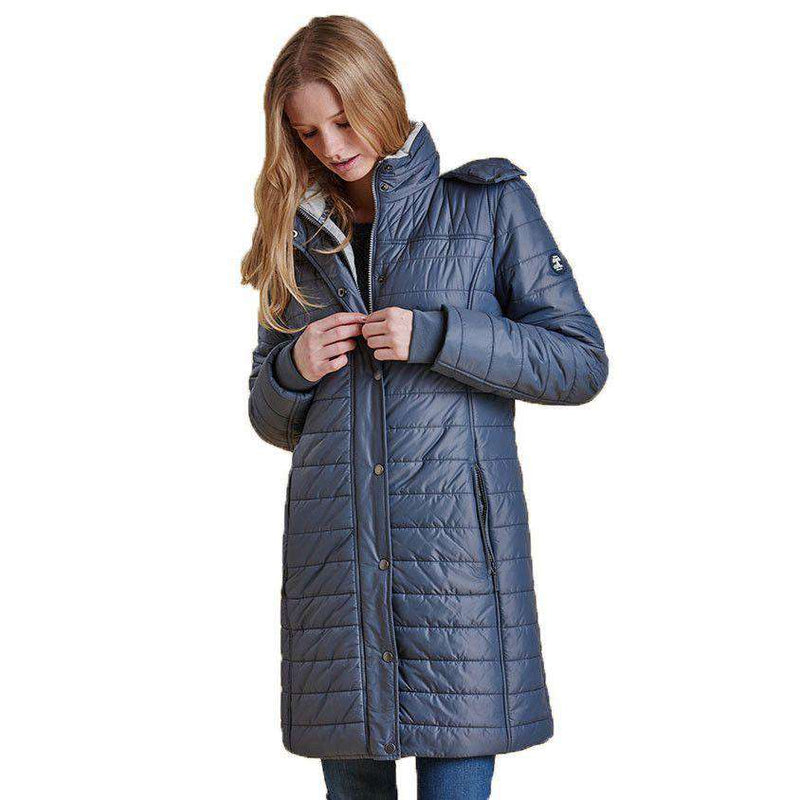 Women's Outerwear - Gaiter Quilted Jacket In Washed Charcoal By Barbour