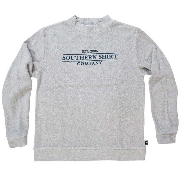 Loop Knit Terry Pullover in Pearl Blue by The Southern Shirt Co.