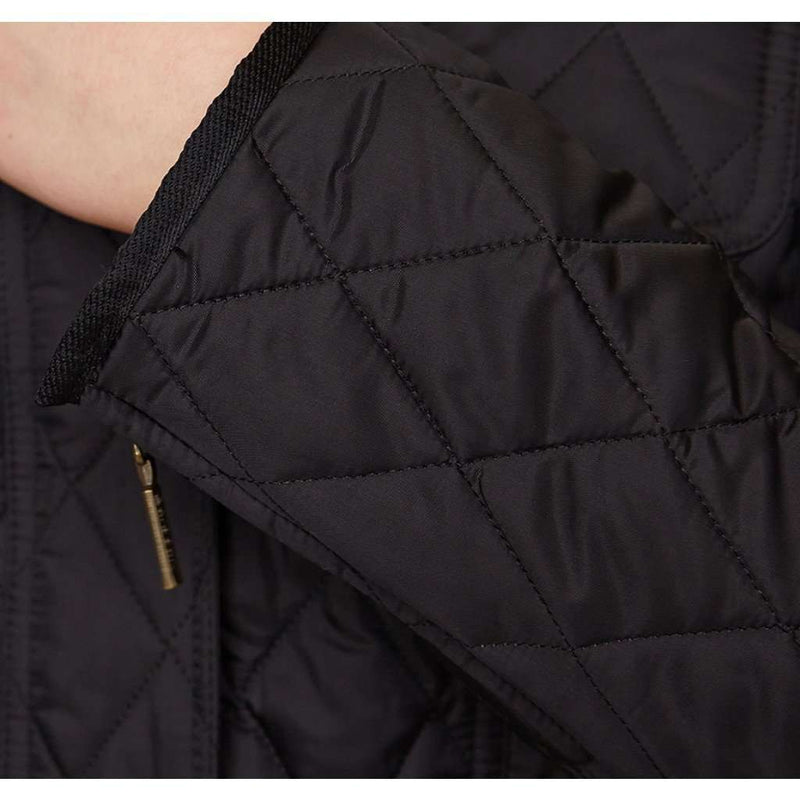 Morris Utility Quilted Jacket in Black by Barbour