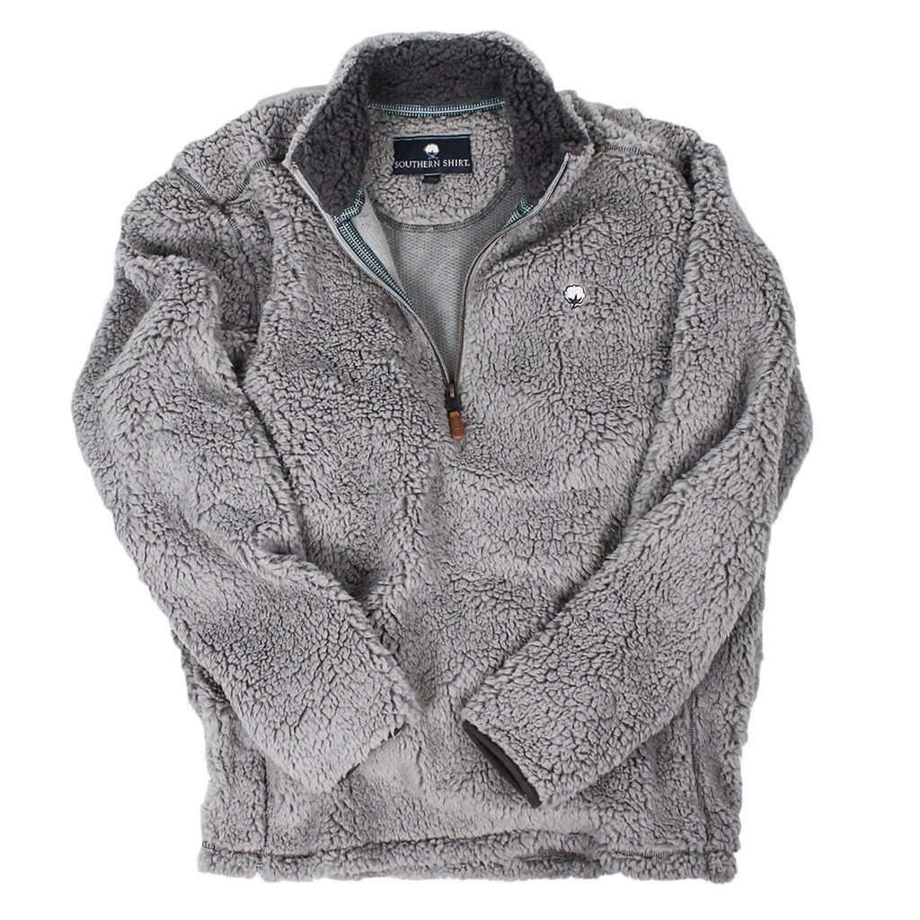 Southern Shirt Company Quarter Zip Sherpa Pullover In