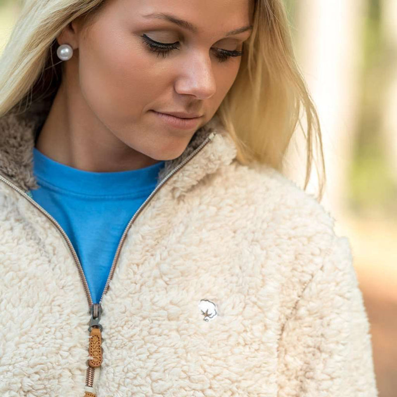 Sherpa Pullover with Pockets in Oyster by The Southern Shirt Co.