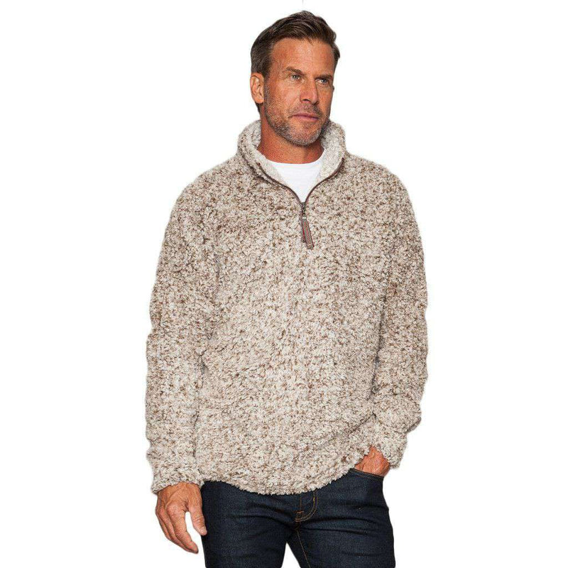The Original Frosty Tipped Pile 1/2 Zip Pullover in Brown by True Grit