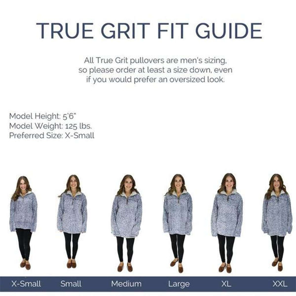 Women's Outerwear - The Original Frosty Tipped Pile 1/2 Zip Pullover In Denim By True Grit