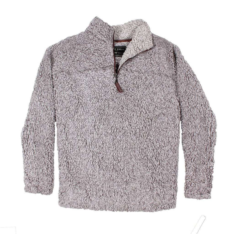 Women's Outerwear - The Original Frosty Tipped Pile 1/2 Zip Pullover In Heather By True Grit