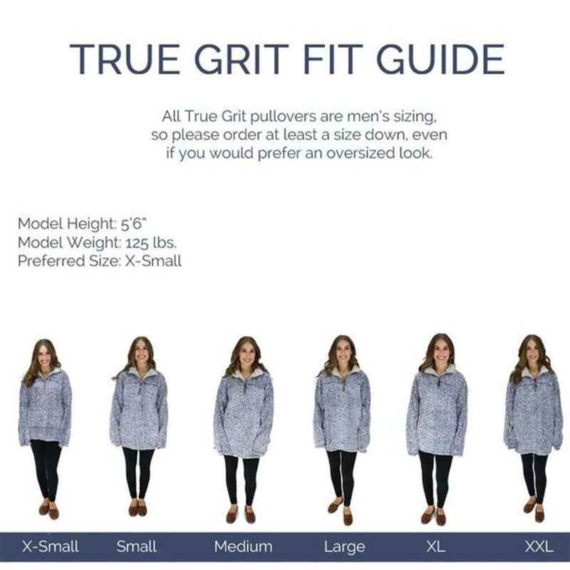 The Original Frosty Tipped Pile 1/2 Zip Pullover in Heather by True Grit
