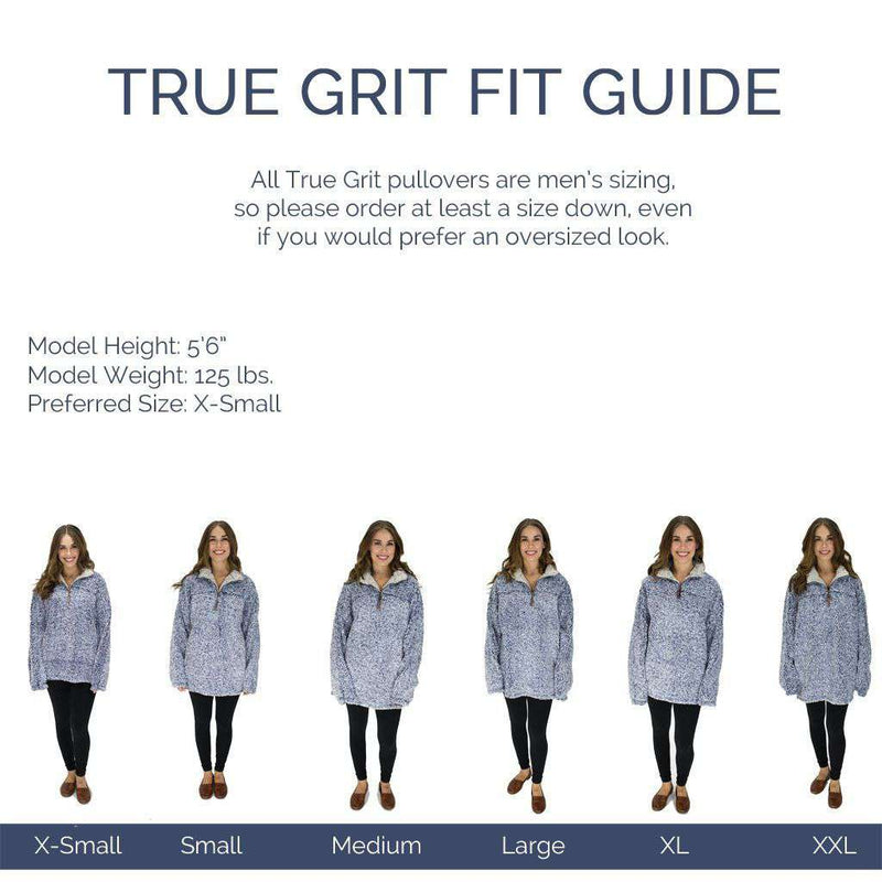 Women's Outerwear - The Original Frosty Tipped Pile 1/2 Zip Pullover In Putty By True Grit - FINAL SALE