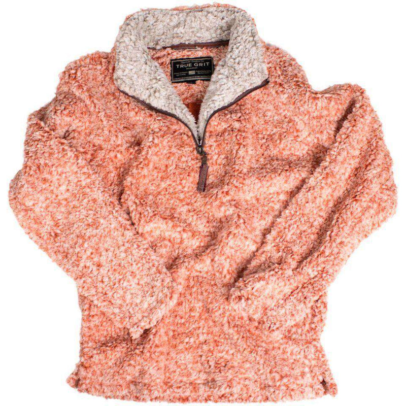 The Original Frosty Tipped Pile 1/2 Zip Pullover in Spice by True Grit